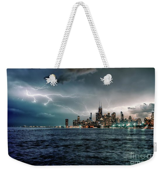 Thunder And Lightning In The Dark City II Weekender Tote Bag