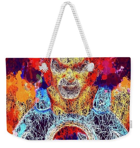 Weekender Tote Bag featuring the mixed media Thundercats by Al Matra