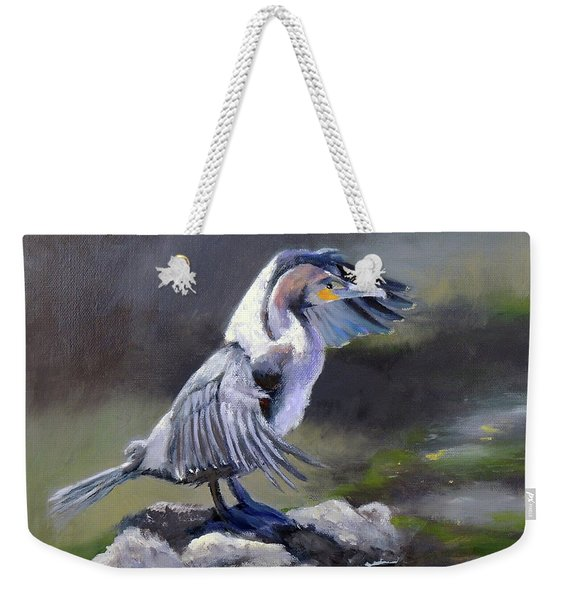 Tiber River Cormorant Weekender Tote Bag