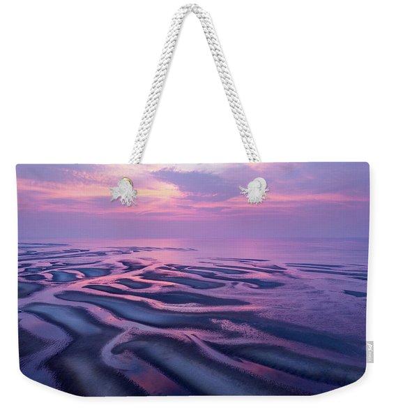 Tidal Flats Sunset Weekender Tote Bag