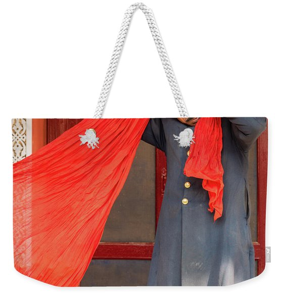 Weekender Tote Bag featuring the photograph Tie One On by Robin Zygelman