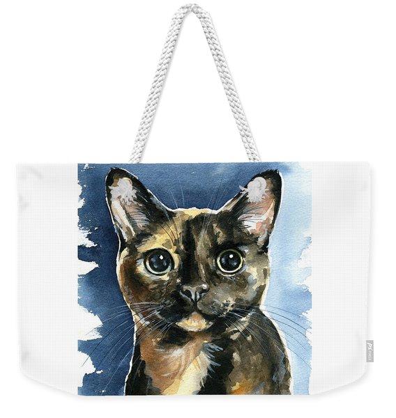 Tiffany Tortoiseshell Cat Painting Weekender Tote Bag