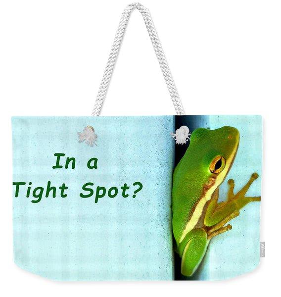 Tight Spot Weekender Tote Bag