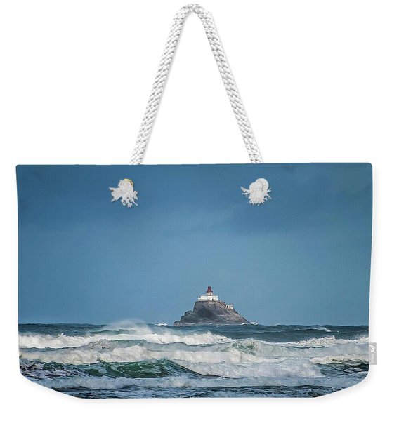 Tillamook Rock Lighthouse Near Cannon Beach Weekender Tote Bag