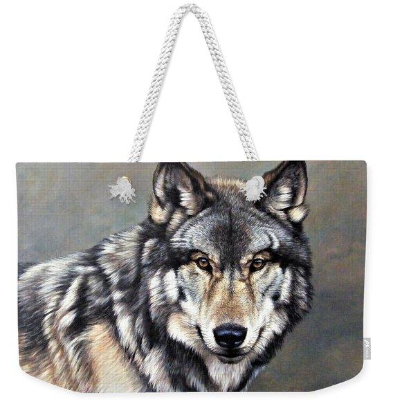 Timber Wolf By Alan M Hunt Weekender Tote Bag