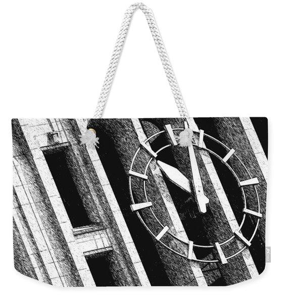 Time Tilts Weekender Tote Bag