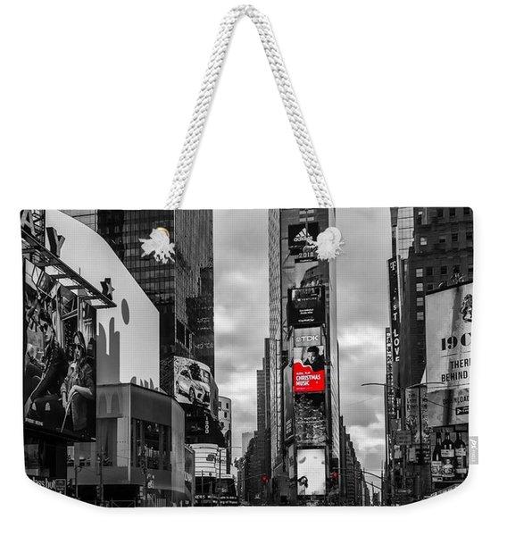 Times Square Weekender Tote Bag