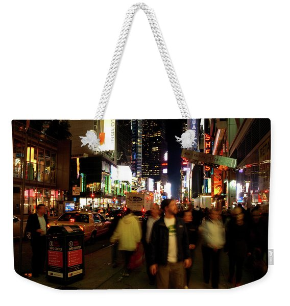 Time Square, Two Weekender Tote Bag