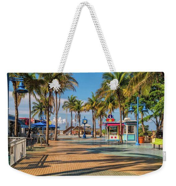 Times Square In Fort Myers Beach Florida Weekender Tote Bag