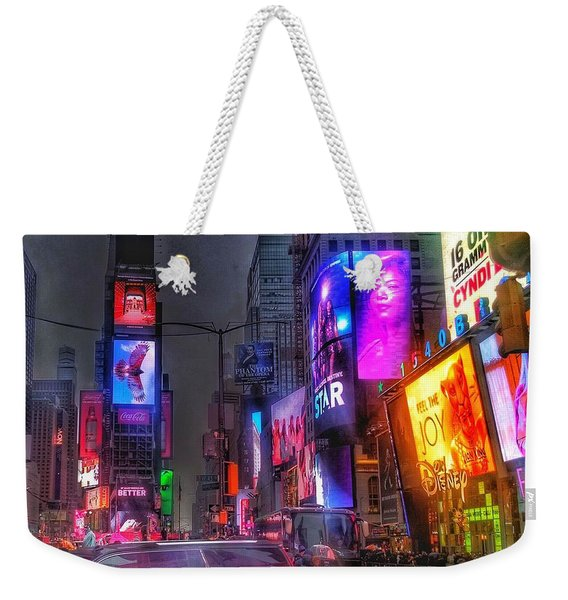 Times Square - The Light Fantastic 2016 Weekender Tote Bag