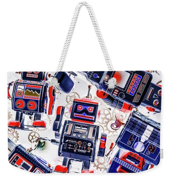 Tin Toy Factory Weekender Tote Bag