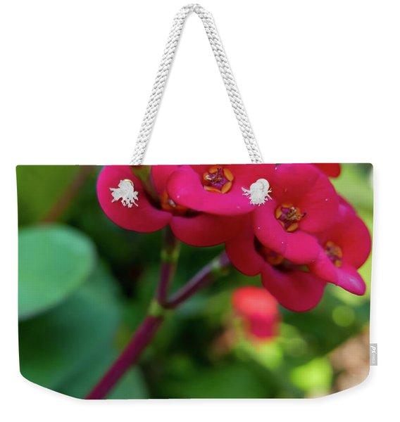 Tiny Red Flowers Weekender Tote Bag