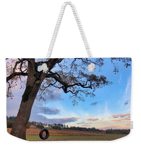 Tire Swing Tree Weekender Tote Bag