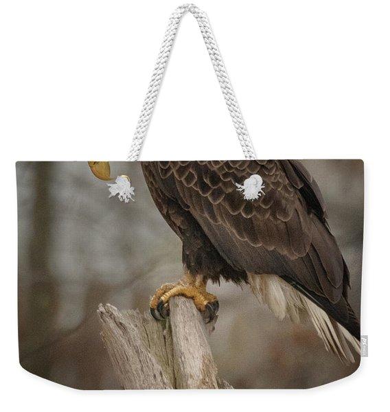 Tired Eagle Dad  Weekender Tote Bag