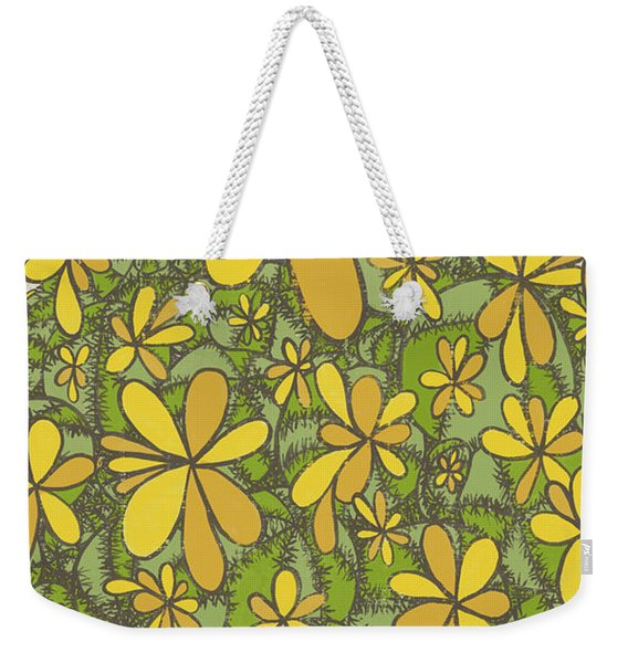 To Wander In The Fields Of Flowers Pull The Thorns From Your Heart Rumi Quote Weekender Tote Bag