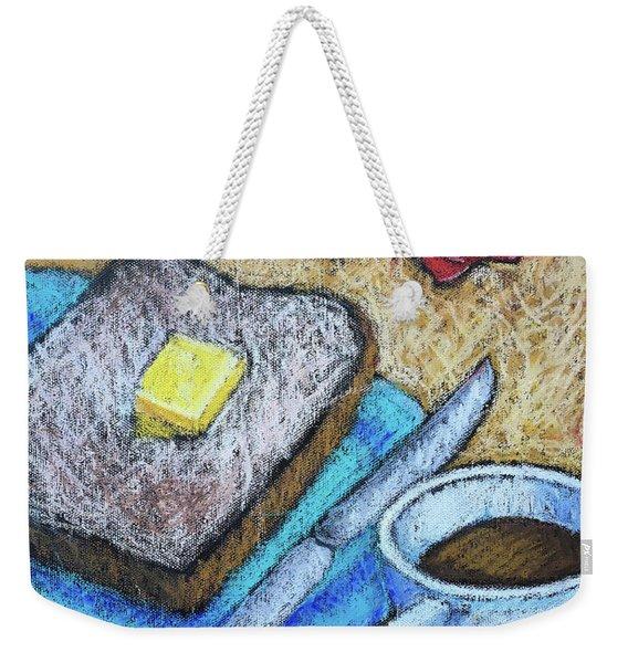 Toast And Roses Weekender Tote Bag
