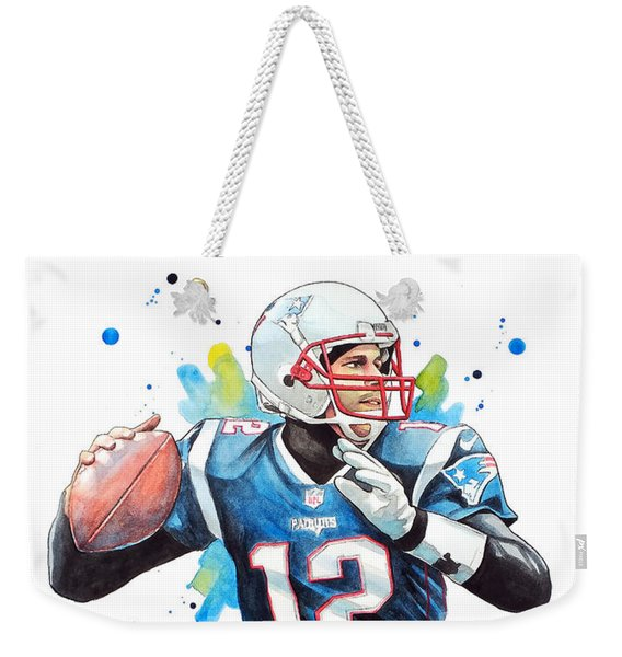 Tom Brady, Patriots, Nfl Weekender Tote Bag