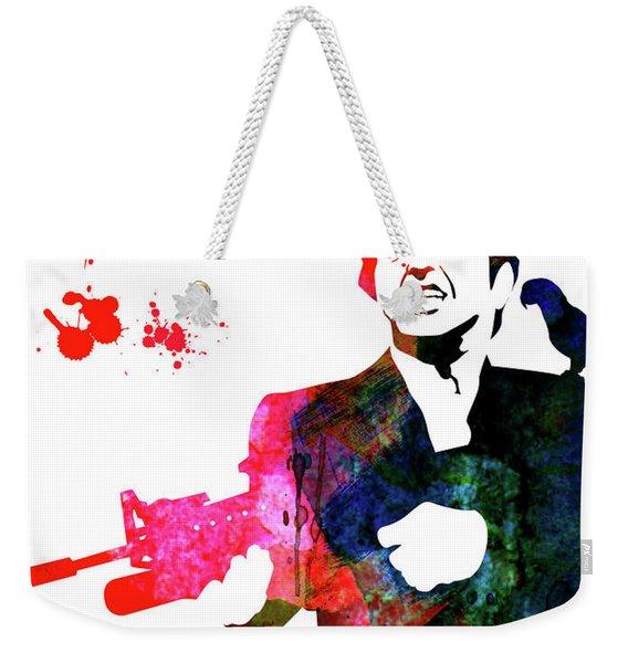 Tony Watercolor Weekender Tote Bag