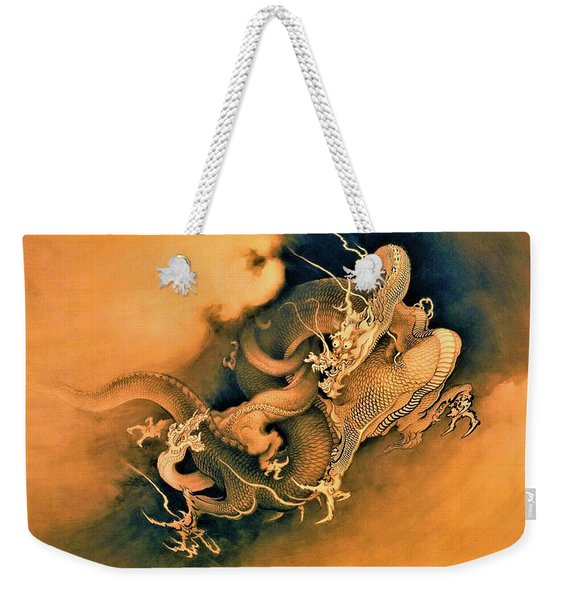 Top Quality Art - Dragon Playing Weekender Tote Bag