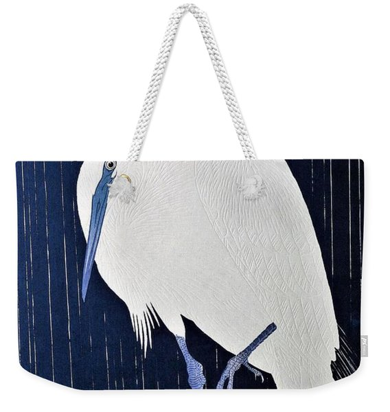 Top Quality Art - Rains White Egret Weekender Tote Bag