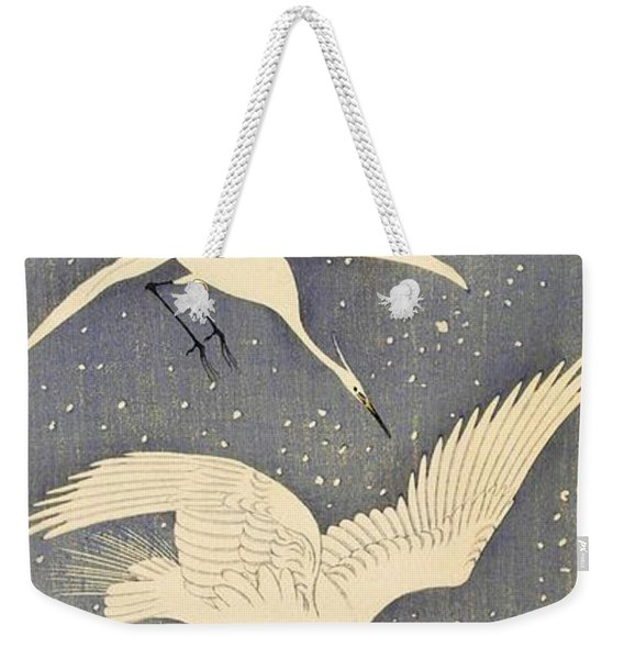 Top Quality Art - Snows Egret Weekender Tote Bag