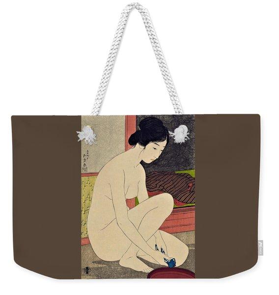 Top Quality Art - Woman After Bath #1 Weekender Tote Bag