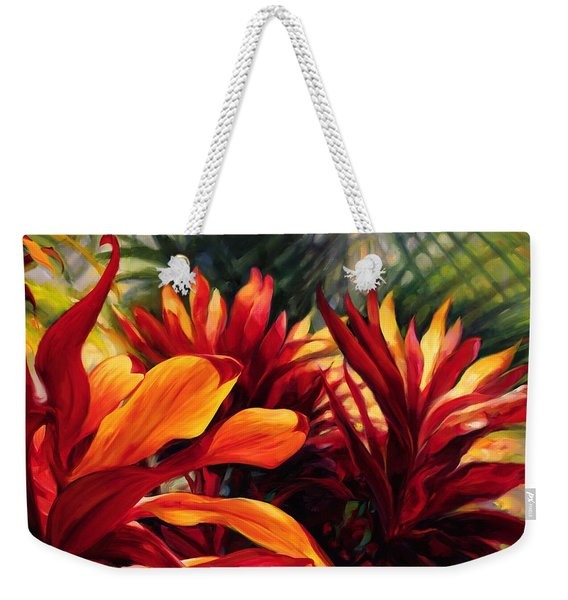 Topical Foliage Weekender Tote Bag