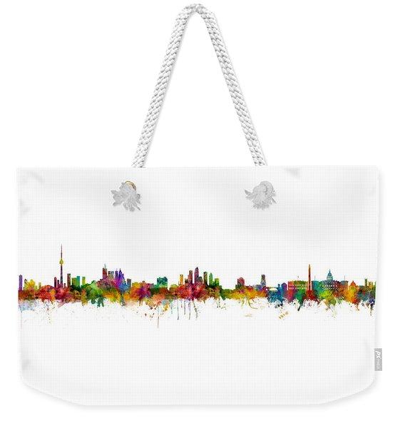 Toronto, Tampa And Washington Dc Skylines Mashup Weekender Tote Bag