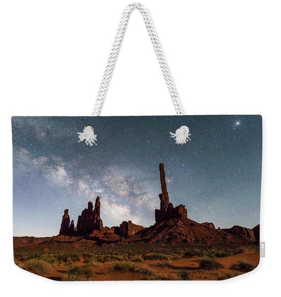 Totem Pole, Yei Bi Che And Milky Way Weekender Tote Bag