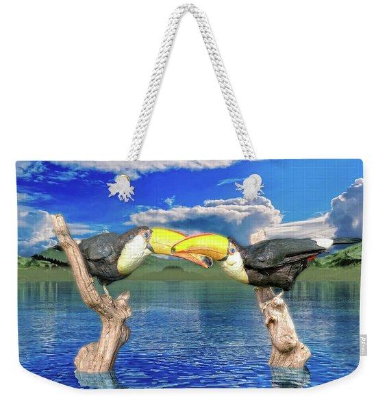 Toucans In Love  Weekender Tote Bag