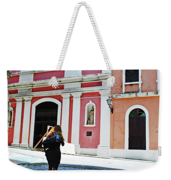 Touristing Old San Juan Weekender Tote Bag