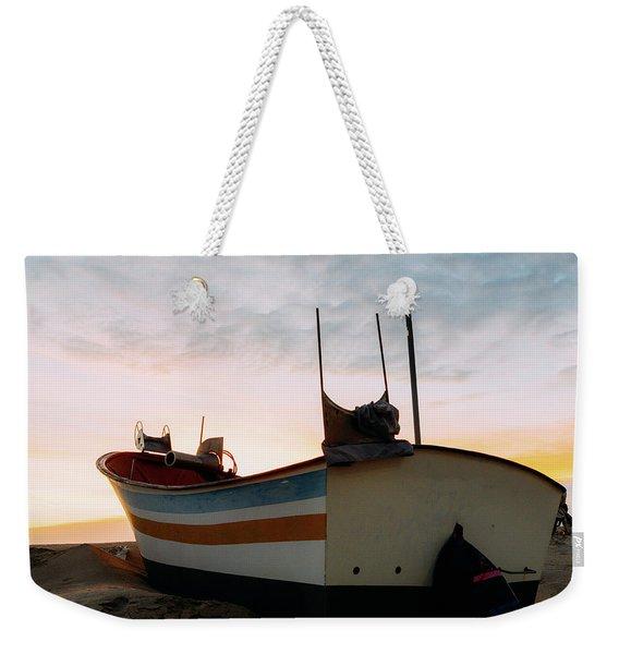 Traditional Wooden Fishing Boat Weekender Tote Bag
