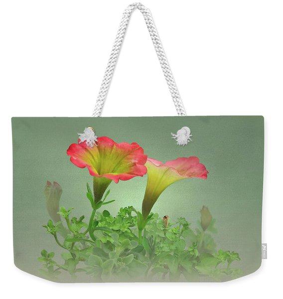 Trailing Petunia Weekender Tote Bag