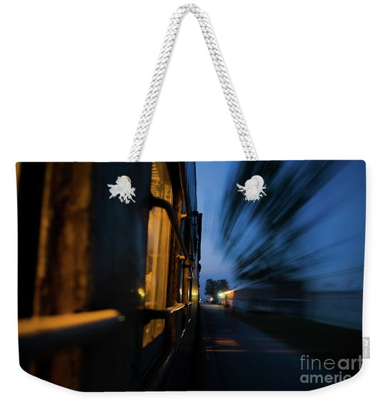 Train In Motion Weekender Tote Bag