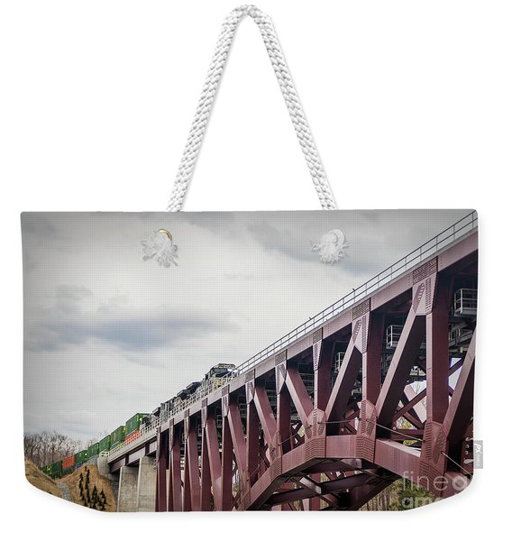 Train Over Letchworth Weekender Tote Bag