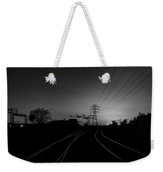 Traintracks Weekender Tote Bag