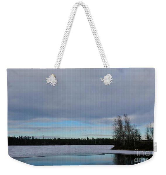 Tranquil Arctic River Weekender Tote Bag