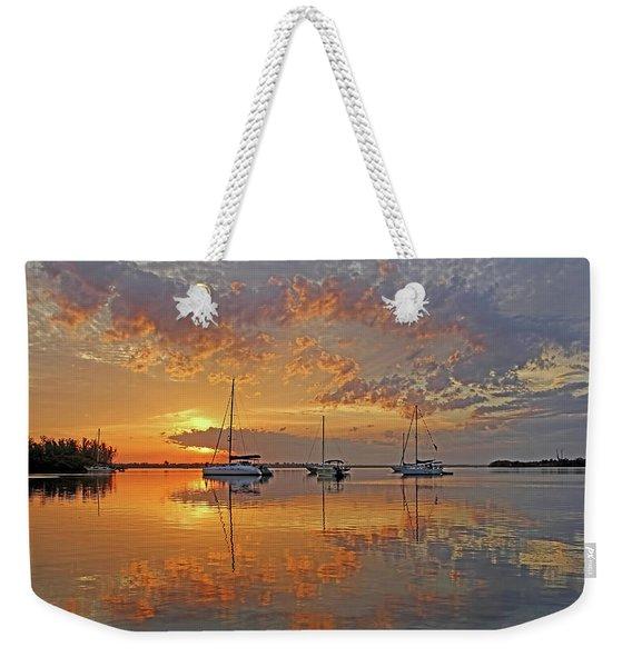 Tranquility Bay - Florida Sunrise Weekender Tote Bag