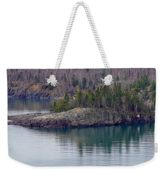 Tranquility In Silver Bay Weekender Tote Bag