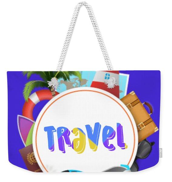 Travel World Weekender Tote Bag