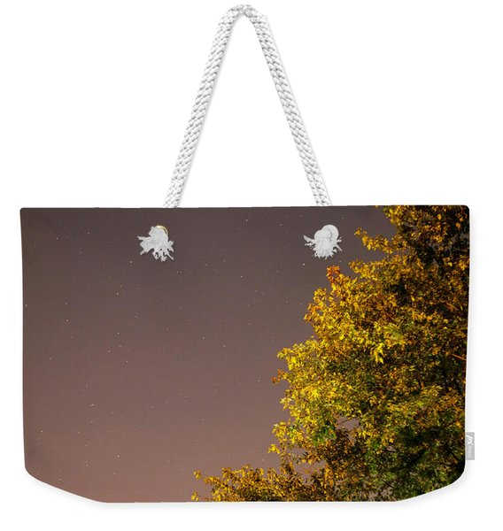 Tree And Stars Weekender Tote Bag