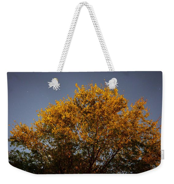 Tree And Stars Wide Weekender Tote Bag