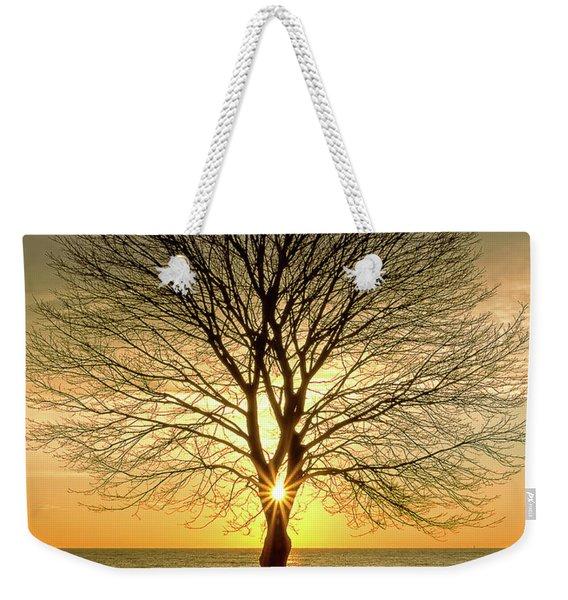 Tree Framed Sunrise New Hampshire Weekender Tote Bag