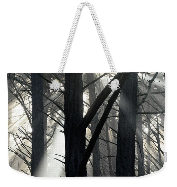Trees And Fog Weekender Tote Bag