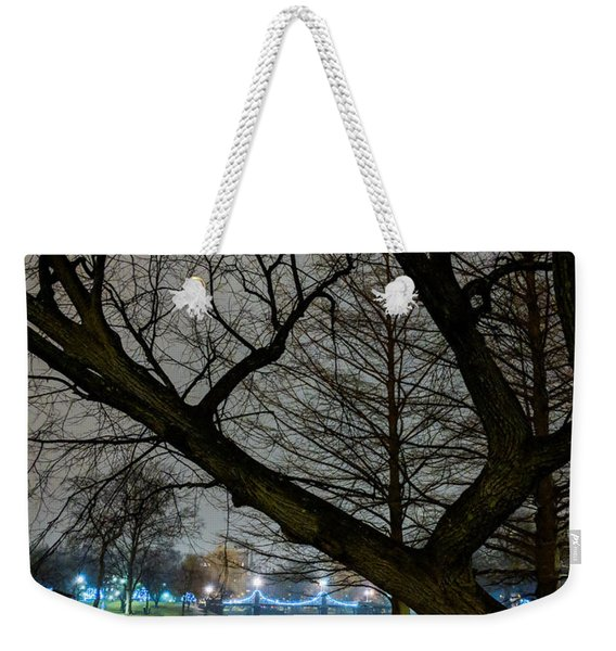 Trees And Lights Weekender Tote Bag