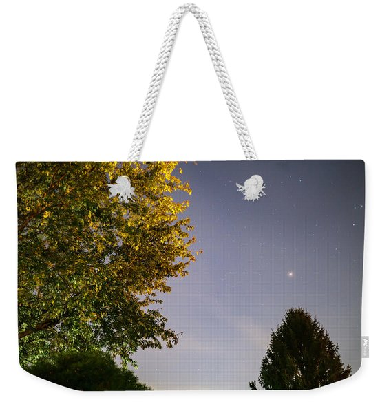 Trees And Stars Weekender Tote Bag