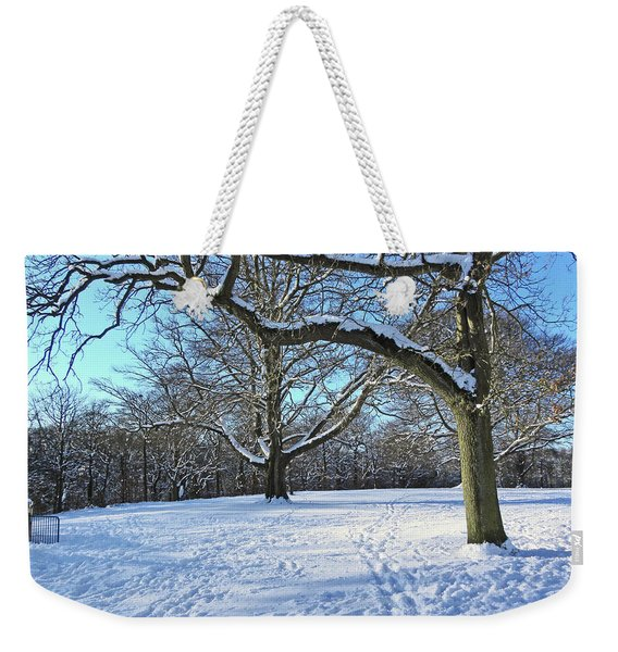 Trees In The Snow Weekender Tote Bag