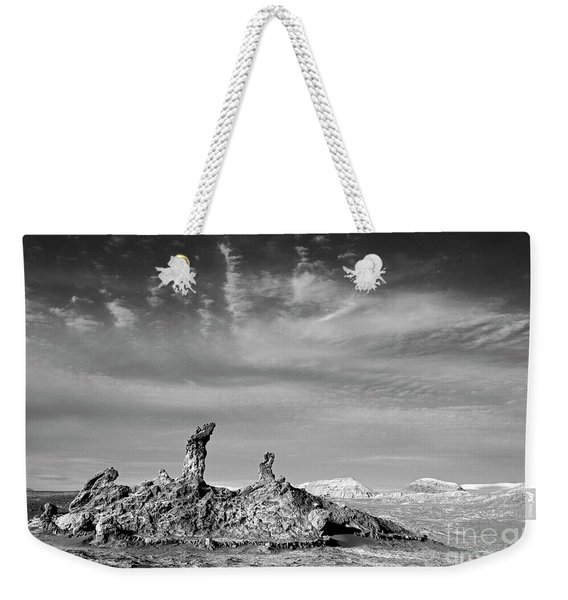 Tres Marias In Monochrome Moon Valley Chile Weekender Tote Bag