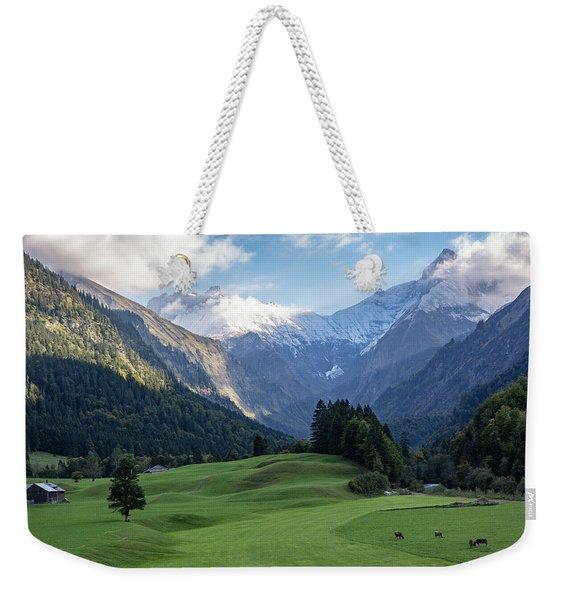Trettachtal, Allgaeu Weekender Tote Bag