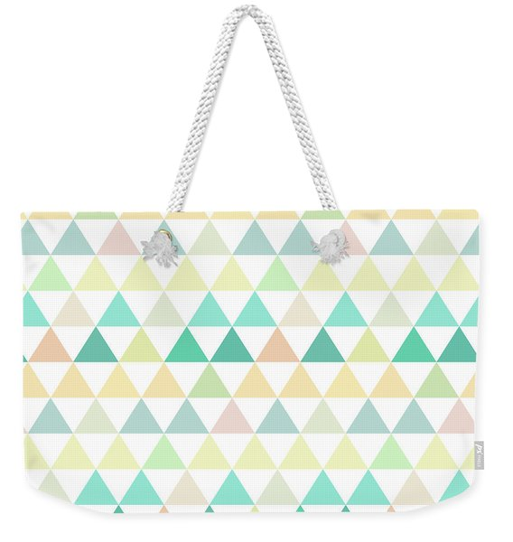 Triangle Abstract Background- Efg204 Weekender Tote Bag